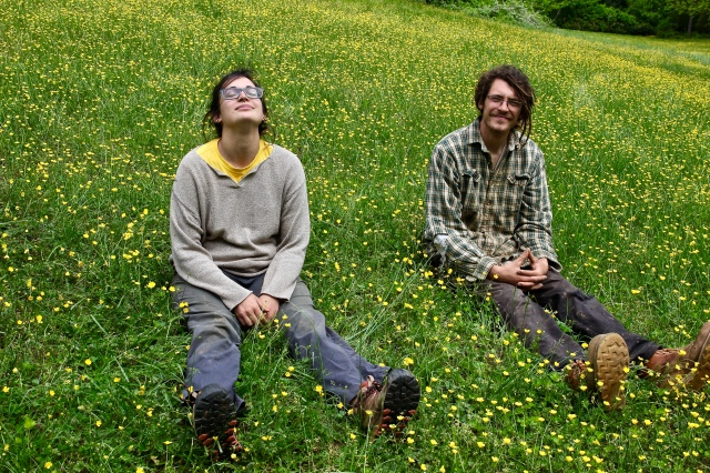 Andrea andJared in the buttercups