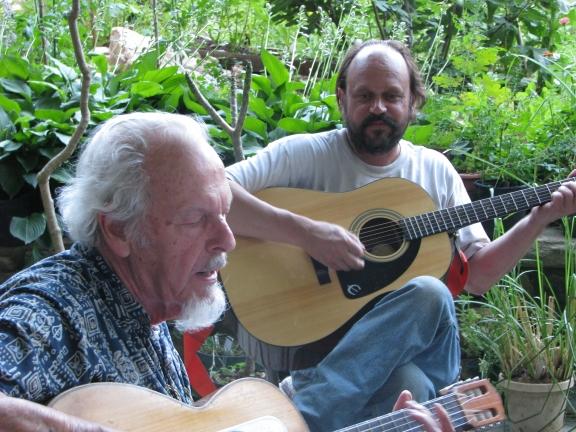 Jim jams with son John