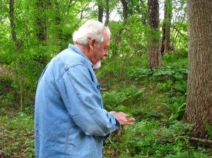 Jim in the woods of Grandpa Creek