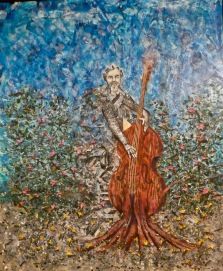 jim duke painting bass fiddle